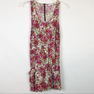 Forever 21 slouchy floral sleeveless dress pockets